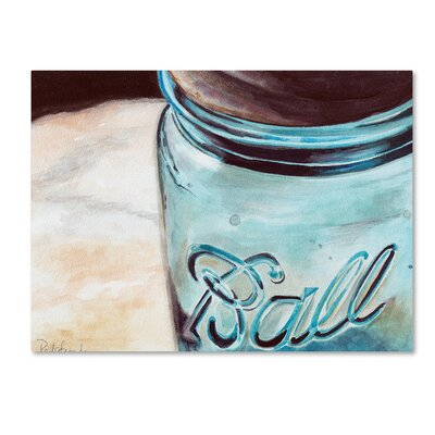 Ball Jar Painting Print on Wrapped Canvas