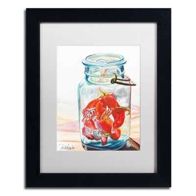 Ball Jar Ideal Peppers Framed Painting Print Size: 14