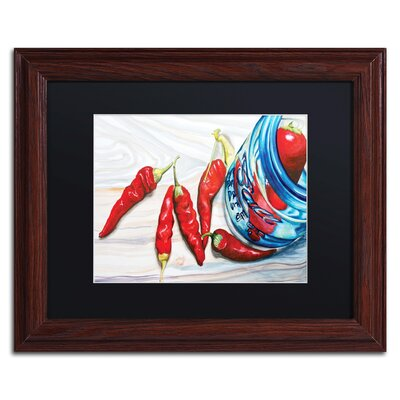Ball Jar Peppers Framed Painting Print