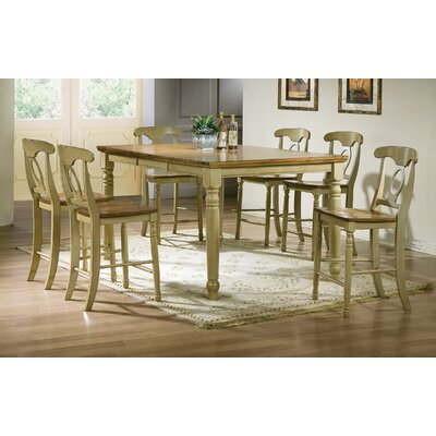 Corell Park Counter Height Dining Table Finish: Almond / Green