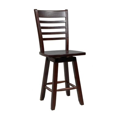 Calvert 24.25 Swivel Bar Stool (Set of 2) Finish: Chocolate