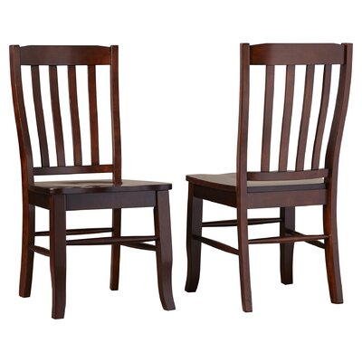 Calvert Solid Wood Dining Chair (Set of 2) Side Chair Finish: Chocolate