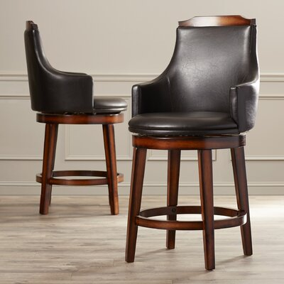 Edward 24 inch Swivel Bar Stool with Cushion (Set of 2)