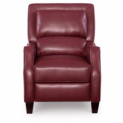 Bansom Manual Glider Recliner Upholstery: Belmont Red