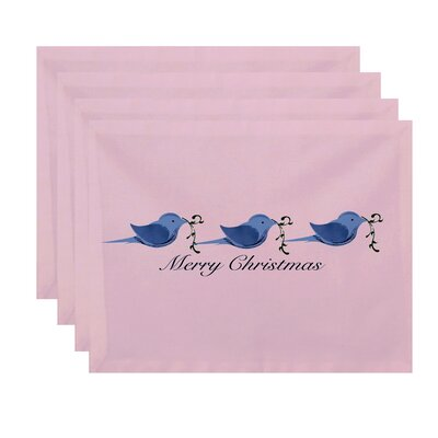 Alcott Hill Merry Christmas Birds Word Print Placemat