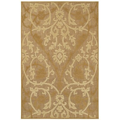 Aldridge Astor Brown/Tan Indoor/Outdoor Area Rug Rug Size: 76 x 109
