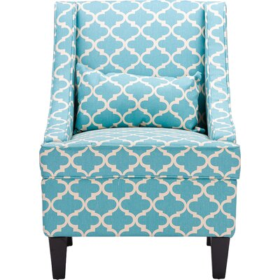 Purcell Arm Chair Upholstery: Blue