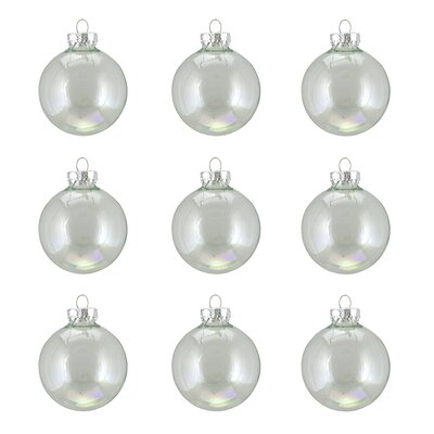 Alcott Hill Iridescent Glass Ball Christmas Ornament