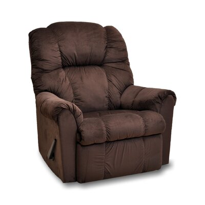 Shawnee Manual Rocker Recliner Upholstery: Brown