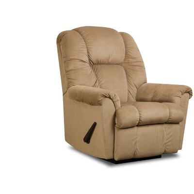 Shawnee Manual Rocker Recliner Upholstery: Tan