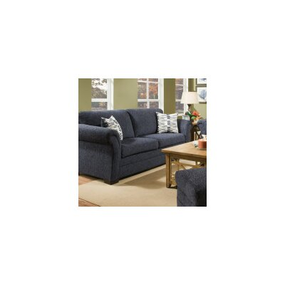 Simmons Upholstery Balcones Sleeper Sofa Upholstery: Blue