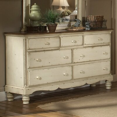 Baptist 7 Drawer Dresser Color: Antique White