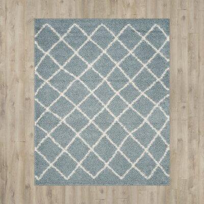 Laurelville Seafoam / Ivory Area Rug Rug Size: 51 x 76