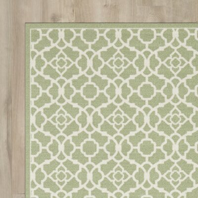 Tarlton Green/White Indoor/Outdoor Area Rug Rug Size: Rectangle 44 x 611