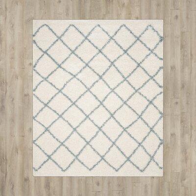 Laurelville Ivory / Seafoam Area Rug Rug Size: 51 x 76
