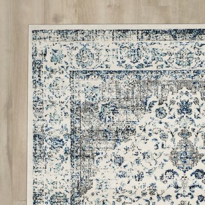 Laurelville Gray/Blue Area Rug Rug Size: 12 x 18