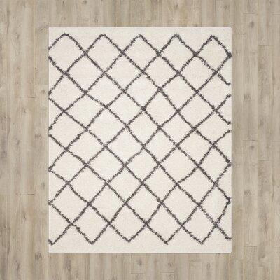 Laurelville Ivory / Dark Gray Area Rug Rug Size: 51 x 76