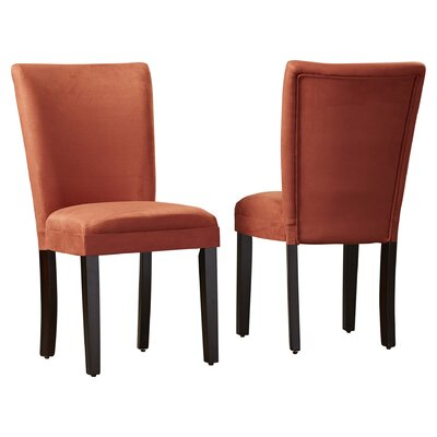 Willington Parsons Chair Upholstery: Burnt Orange