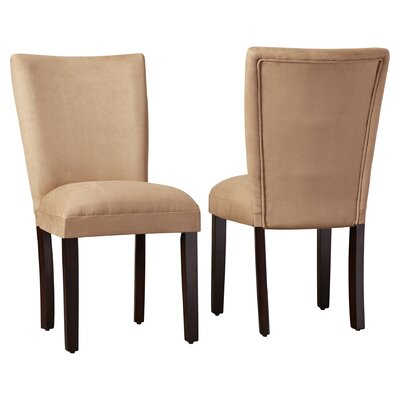 Willington Parsons Chair Upholstery: Taupe
