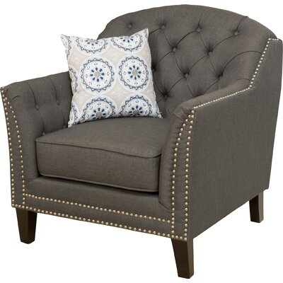 Plumwood Tufted Fabric Armchair Upholstery: Dark Gray