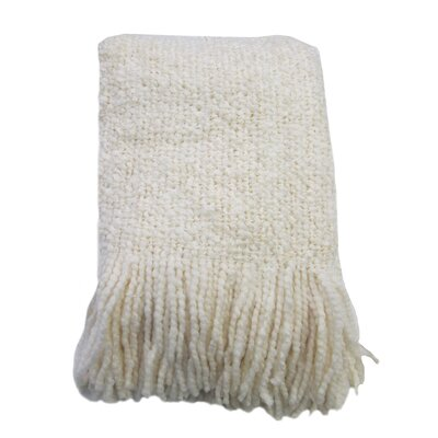 Templepatrick Decorative Throw Blanket Color: Cream