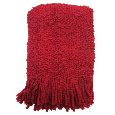 Templepatrick Decorative Throw Blanket Color: Red