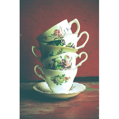 Vintage Tea Cups Photographic Print on Wrapped Canvas