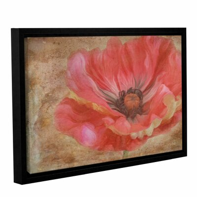 Painted Poppie Framed Painting Print on Gallery Wrapped Canvas