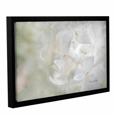 White Lilac II Framed Painting Print on Gallery Wrapped Canvas