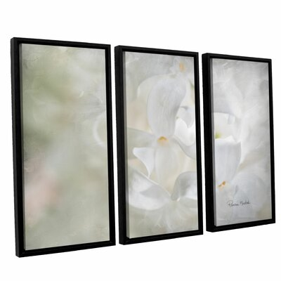 White Lilac II 3 Piece Framed Painting Print on Canvas Set
