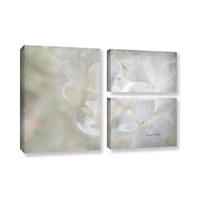 White Lilac II 3 Piece Painting Print on Gallery Wrapped Canvas Set