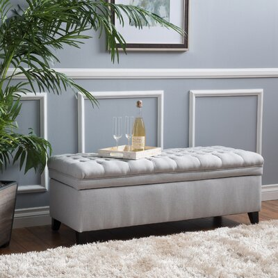 Logan Storage Ottoman Upholstery: Light Gray
