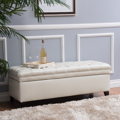 Cullins Tufted Storage Ottoman Upholstery: Ivory
