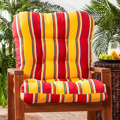 Outdoor Lounge Chair Cushion Fabric: Carnival Stripe