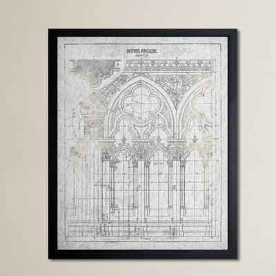 Gothic Arcade Vintage Framed Graphic Art