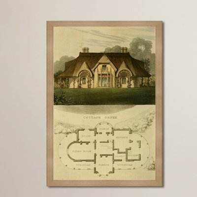 Cottage Orne III Framed Painting Print