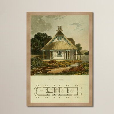 Cottage Framed Painting Print Size: 24
