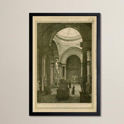 Tribuna del David di Michelancelo Framed Graphic Art Size: 30