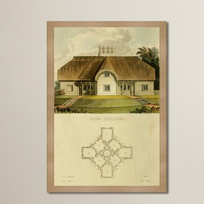 Four Cottages Framed Painting Print
