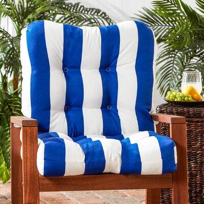 Outdoor Lounge Chair Cushion Fabric: Cabana Blue