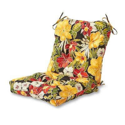 Outdoor Lounge Chair Cushion Fabric: Aloha Black