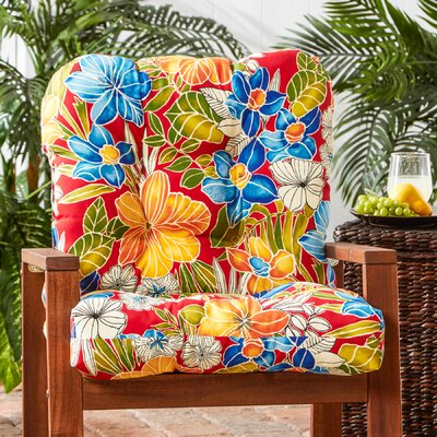 Outdoor Lounge Chair Cushion Fabric: Aloha Red
