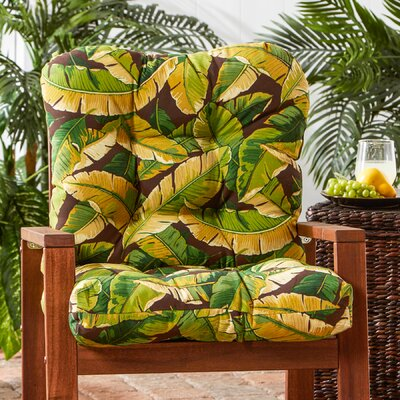 Outdoor Lounge Chair Cushion Fabric: Palm Green
