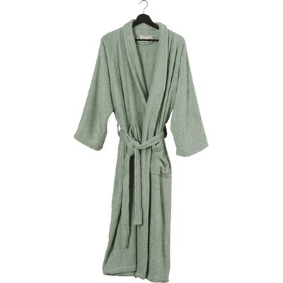 Superior Bathrobe Color: Sage, Size: Small