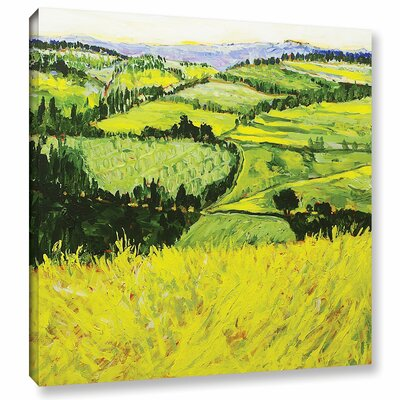 Deep Valley Framed Painting Print on Wrapped Canvas