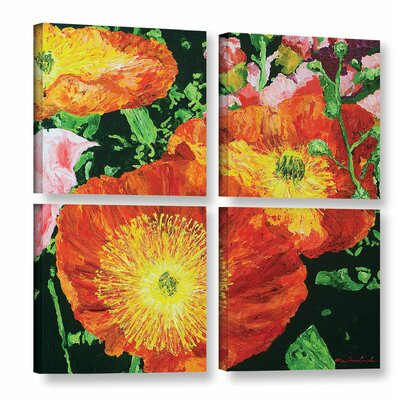 Exuberance is Beauty 4 Piece Painting Print on Wrapped Canvas Set