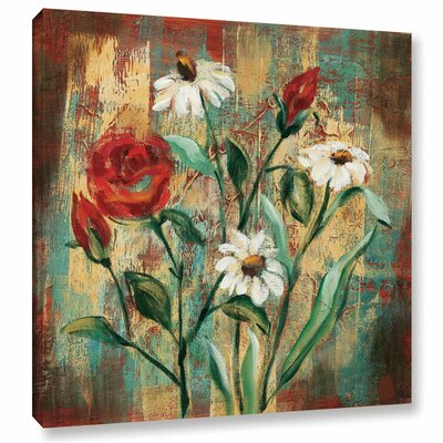 Flowers Garden I Framed Painting Print on Wrapped Canvas