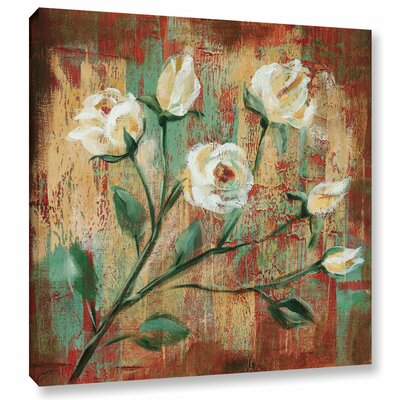 Flowers Garden III Framed Painting Print on Wrapped Canvas Size: 10