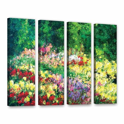 Forest Garden 4 Piece Painting Print on Wrapped Canvas Set