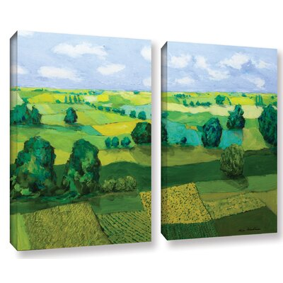 Minnesota Fields 2 Piece Painting Print on Wrapped Canvas Set